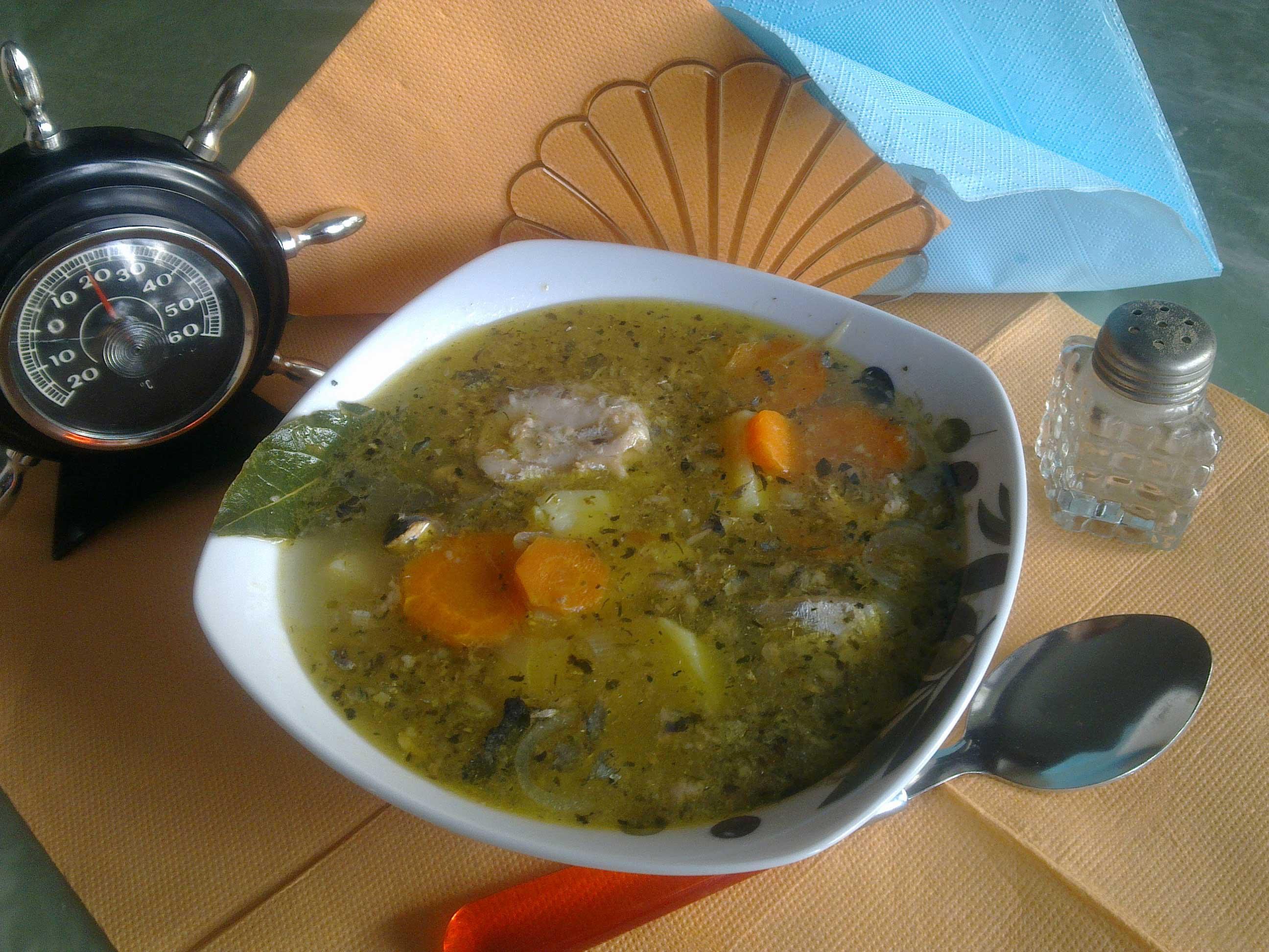 Рыбный суп из сайры рецепт пошагово