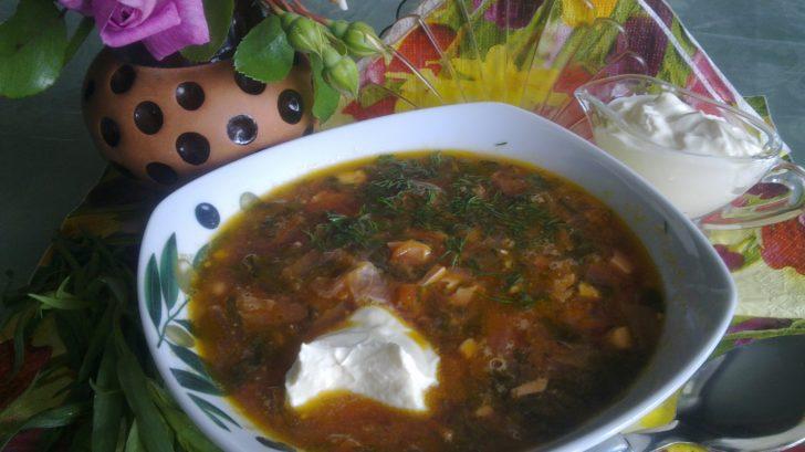 Зеленый борщ с томатом с щавелем и яйцом рецепт пошагово